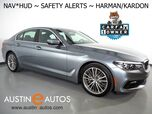 2018 BMW 5 Series 530i Sedan *SPORT LINE, HEADS-UP DISPLAY, NAVIGATION, BLIND SPOT & LANE DEPARTURE ALERT, ADAPTIVE CRUISE, BACKUP-CAMERA, MOONROOF, DAKOTA LEATHER, HARMAN/KARDON, APPLE CARPLAY