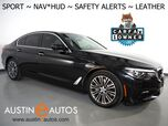 2018 BMW 5 Series 530i Sedan *SPORT LINE, HEADS-UP DISPLAY, NAVIGATION, BLIND SPOT & LANE DEPARTURE ALERT, MOONROOF, DAKOTA LEATHER, HEATED SEATS, COMFORT ACCESS, BLUETOOTH