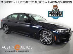2018_BMW_5 Series 540i_*M SPORT PKG, HEADS-UP DISPLAY, NAVIGATION, BLIND SPOT & LANE DEPARTURE ALERT, ADAPTIVE CRUISE, 360 CAMERAS, LEATHER, MOONROOF, HARMAN KARDON_ Round Rock TX