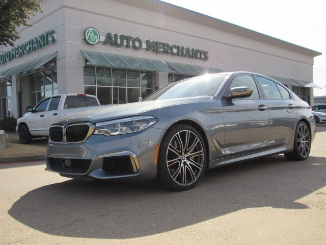 2018 BMW 5-Series M550i xDrive  LEATHER SEATS, SUNROOF, NAVIGATION, EXECUTIVE PACKAGE, BLIND SPOT MONITOR Plano TX