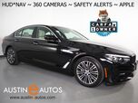 2018 BMW 530e iPerformance Plug-In Hybrid *NAVIGATION, HEADS-UP DISPLAY, BLIND SPOT & LANE DEPARTURE ALERT, 360 VIEW CAMERAS, MOONROOF, DAKOTA LEATHER, HEATED SEATS, APPLE CARPLAY