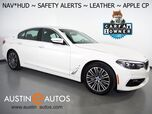 2018 BMW 530e iPerformance Plug-In Hybrid *NAVIGATION, HEADS-UP DISPLAY, BLIND SPOT & LANE DEPARTURE ALERT, BACKUP-CAMERA, MOONROOF, DAKOTA LEATHER, HEATED SEATS, APPLE CARPLAY