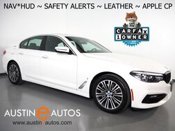 2018_BMW_530e iPerformance Plug-In Hybrid_*NAVIGATION, HEADS-UP DISPLAY, BLIND SPOT & LANE DEPARTURE ALERT, BACKUP-CAMERA, MOONROOF, DAKOTA LEATHER, HEATED SEATS, APPLE CARPLAY_ Round Rock TX