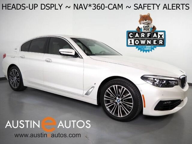 2018 BMW 530e iPerformance Plug-In Hybrid *NAVIGATION, HEADS-UP DISPLAY, BLIND SPOT & LANE DEPARTURE ALERT, COLLISION ALERT, ADAPTIVE CRUISE, 360 CAMERAS, MOONROOF, LEATHER, HEATED SEATS, BLUETOOTH Round Rock TX