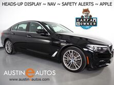 BMW 530e iPerformance Plug-In Hybrid *NAVIGATION, HEADS-UP DISPLAY, BLIND SPOT & LANE DEPARTURE ALERT, REAR-CAMERA, MOONROOF, DAKOTA LEATHER, HEATED SEATS, 19 INCH WHEELS, APPLE CARPLAY 2018