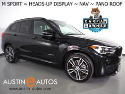 2018_BMW_X1 sDrive28i_*M SPORT PKG, HEADS-UP DISPLAY, NAVIGATION, BACKUP-CAMERA, PANORAMA MOONROOF, DAKOTA LEATHER, HEATED SEATS/STEERING WHEEL, COMFORT ACCESS, 19 INCH WHEELS_ Round Rock TX