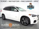 2018 BMW X1 sDrive28i *M SPORT PKG, HEADS-UP DISPLAY, NAVIGATION, DRIVING ASSISTANT, BACKUP-CAMERA, PANORAMA MOONROOF, DAKOTA LEATHER, HEATED SEATS/STEERING WHEEL, 19 INCH WHEELS, APPLE CARPLAY
