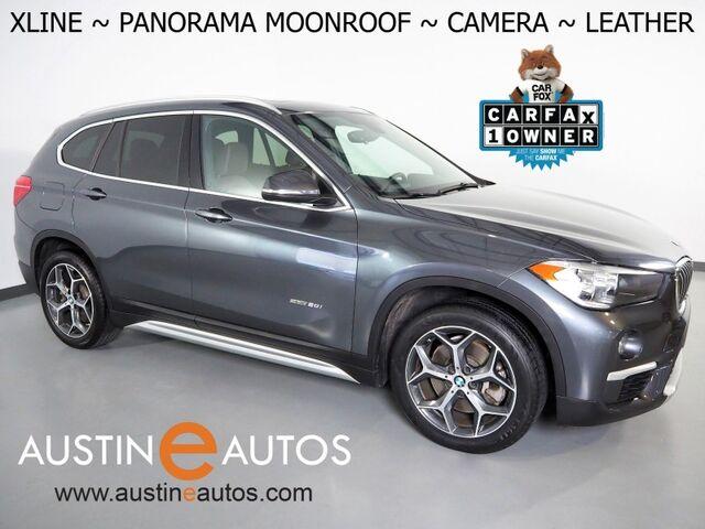 2018 BMW X1 sDrive28i *XLINE, BACKUP-CAMERA, PANORAMA MOONROOF, DAKOTA LEATHER, HEATED SEATS & STEERING WHEEL, POWER TAILGATE, COMFORT ACCESS, BLUETOOH PHONE & AUDIO Round Rock TX