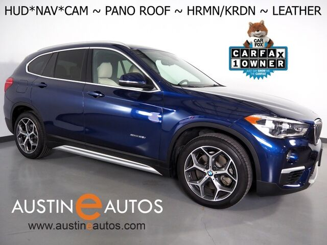 2018 BMW X1 sDrive28i *XLINE, HEADS-UP DISPLAY, NAVIGATION, BACKUP-CAMERA, PANORAMA MOONROOF, DAKOTA LEATHER, HEATED SEATS/STEERING WHEEL, HARMAN KARDON, BLUETOOTH Round Rock TX