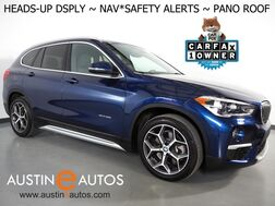 2018_BMW_X1 sDrive28i_*XLINE, HEADS-UP DISPLAY, NAVIGATION, DRIVING ASSISTANT, LANE DEPARTURE & COLLISION ALERTS, ADAPTIVE CRUISE, BACKUP-CAMERA, PANORAMA MOONROOF, HEATED SEATS/STEERING WHEEL_ Round Rock TX