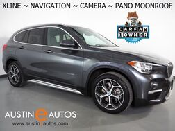 2018_BMW_X1 sDrive28i_*XLINE, NAVIGATION, BACKUP-CAMERA, PANORAMA MOONROOF, POWER TAILGATE, HEATED SEATS & STEERING WHEEL, COMFORT ACCESS, BLUETOOTH PHONE & AUDIO_ Round Rock TX