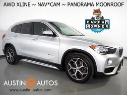 2018_BMW_X1 xDrive28i AWD_*NAVIGATION, BACKUP-CAMERA, PANORAMA MOONROOF, HEATED SEATS/STEERING WHEEL, COMFORT ACCESS, ALLOY WHEELS, BLUETOOTH PHONE & AUDIO_ Round Rock TX
