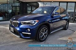 2018_BMW_X1_xDrive28i / AWD / Premium Pkg / Heated Leather Seats / Heated Steering Wheel / Navigation / Panoramic Sunroof / HUD / Keyless Entry & Start / Bluetooth / Back Up Camera / Only 37K Miles_ Anchorage AK