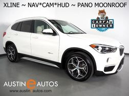 2018_BMW_X1 xDrive28i AWD_*XLINE, NAVIGATION, HEADS-UP DISPLAY, BACKUP-CAMERA, PANORAMA MOONROOF, DAKOTA LEATHER, HEATED SEATS/STEERING WHEEL, BLUETOOTH PHONE & AUDIO_ Round Rock TX