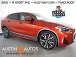 2018 BMW X2 xDrive28i AWD *M SPORT PKG, HEADS-UP DISPLAY, NAVIGATION, BACKUP-CAMERA, PANORAMA MOONROOF, DAKOTA LEATHER, HEATED SEATS/STEERING WHEEL