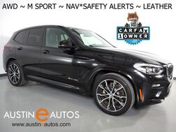 2018_BMW_X3 xDrive30i AWD_*M SPORT PACKAGE, NAVIGATION, BLIND SPOT & LANE DEPARTURE ALERT, DRIVING ASSISTANT, BACKUP-CAMERA, PANORAMA MOONROOF, VERNASCA LEATHER, 20 INCH WHEELS, BLUETOOTH_ Round Rock TX