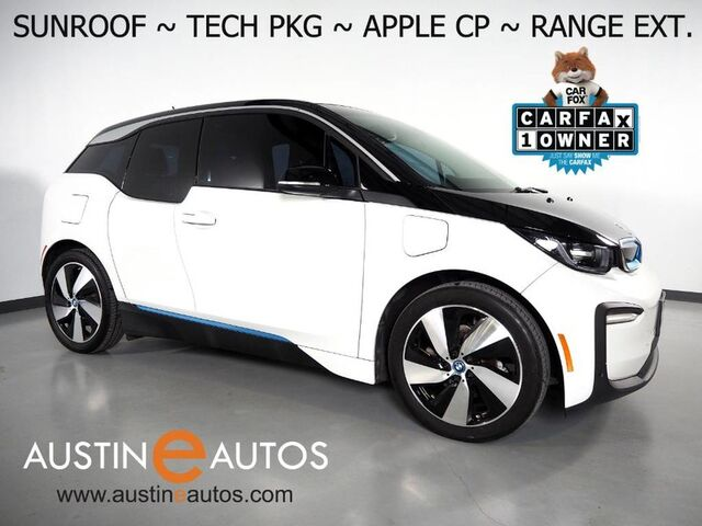 2018 BMW i3 Deka World w/Range Extender *MOONROOF, NAVIGATION, DRIVING ASSISTANT, ADAPTIVE CRUISE, BACKUP-CAMERA, COMFORT ACCESS, HEATED SEATS, BLUETOOTH, APPLE CARPLAY Round Rock TX