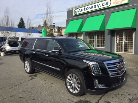 2018 Cadillac Escalade ESV Platinum | Local Vehicle | No Accidents | Sunroof | Navigation | DVD Coquitlam BC