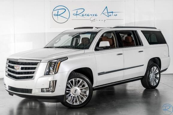 2018_Cadillac_Escalade ESV_Premium Luxury Captains Rear DVD Platinum Wheels_ The Colony TX