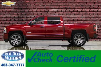 2018_Chevrolet_Silverado 1500_4x4 Crew Cab High Country Leather Roof Nav_ Red Deer AB