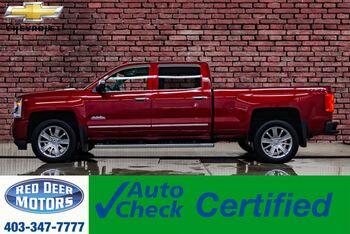 2018_Chevrolet_Silverado 1500_4x4 Crew Cab High Country Longbox Leather Roof Nav_ Red Deer AB
