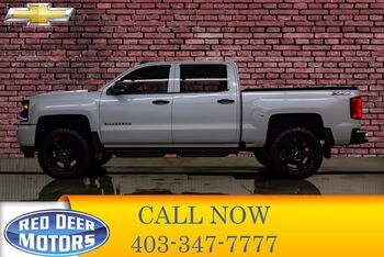 2018_Chevrolet_Silverado 1500_4x4 Crew Cab SLT Z71 Leather Roof Nav_ Red Deer AB