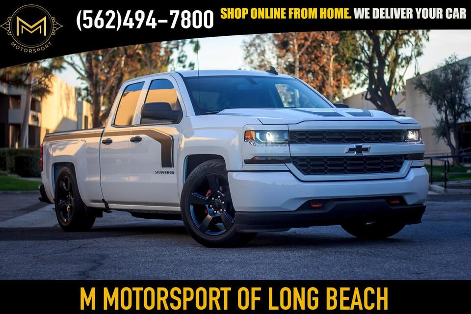 2018_Chevrolet_Silverado 1500 Double Cab_Custom Pickup 4D 6 1/2 ft_ Long Beach CA
