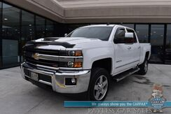 2018_Chevrolet_Silverado 2500HD_LTZ / Z71 Off-RD Pkg / 4X4 / Turbo Diesel / Crew Cab / Auto Start / Heated & Cooled Leather Seats / Heated Steering Wheel / Navigation / Bose Speakers / Sunroof / Bluetooth / Bed Liner / Tow Pkg_ Anchorage AK