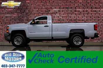 2018_Chevrolet_Silverado 3500HD_4x4 Reg Cab WT Longbox BCam Pseat_ Red Deer AB