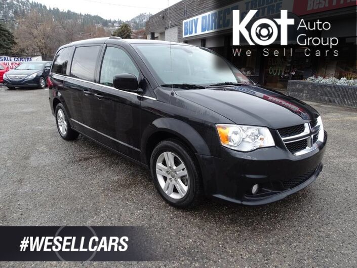 2018 Dodge Grand Caravan Crew Low KM's, Heated Leather Seats, Heated Steering Wheel, Navigation, Back-up Camera Kelowna BC