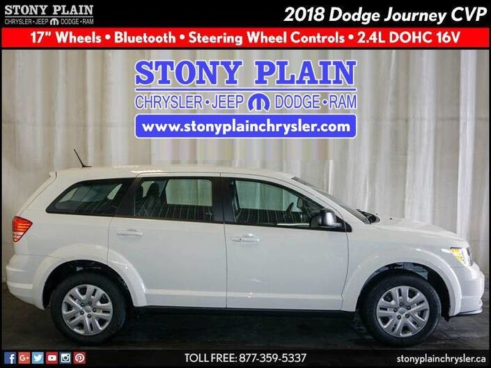 2018 Dodge Journey Canada Value Pkg Stony Plain AB