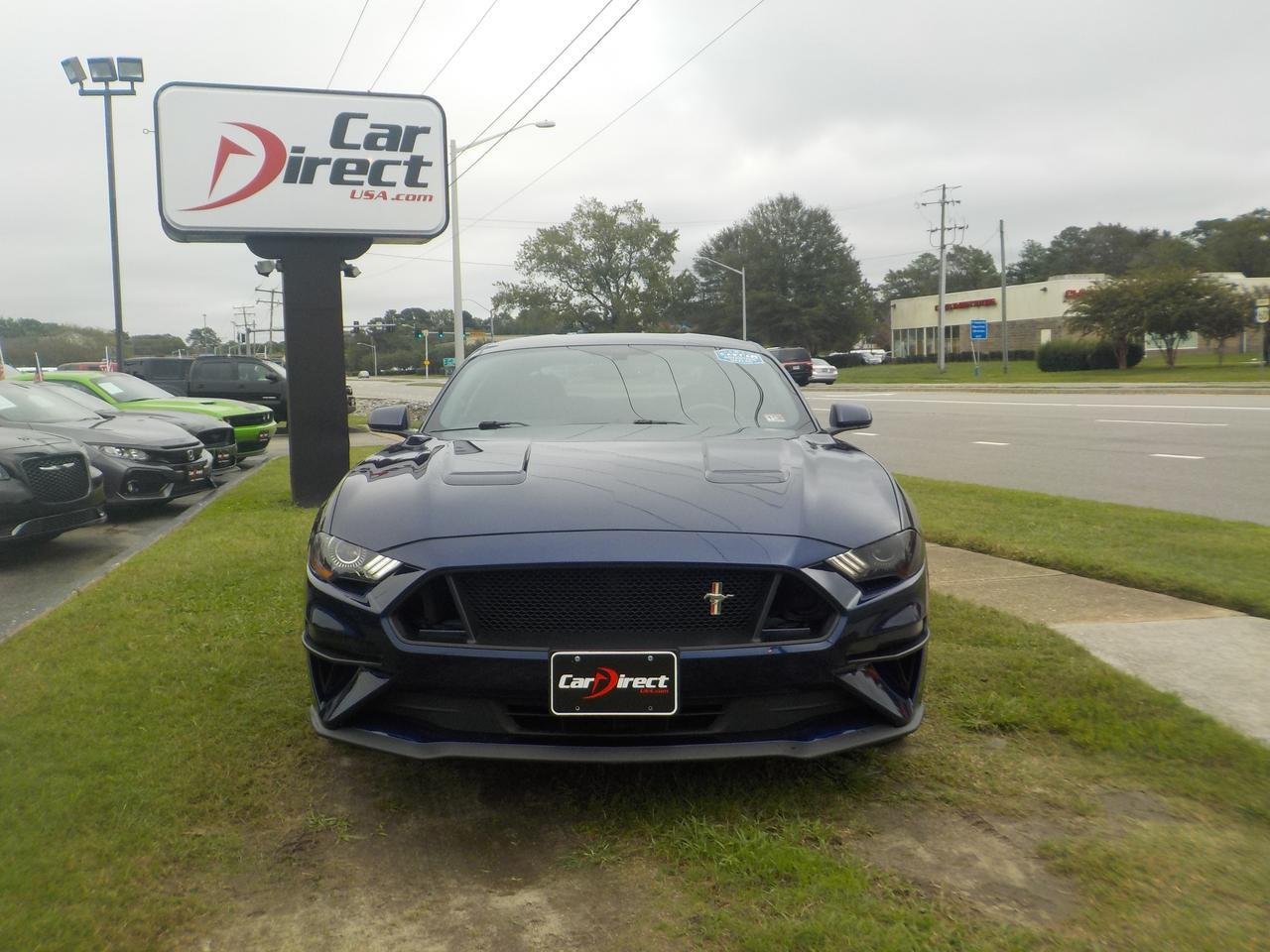 2018 FORD MUSTANG FASTBACK ECOBOOST COUPE, ONE OWNER, KEYLESS START, BACKUP CAM, FORD SYNC, BLUETOOTH, ONLY 37K MILES! Virginia Beach VA