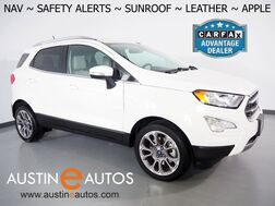2018_Ford_EcoSport Titanium_*NAVIGATION, BLIND SPOT ALERT, COLOR TOUCH SCREEN, BACKUP-CAMERA, MOONROOF, LEATHER, HEATED SEATS, BANG & OLUFSEN, ALLOY WHEELS, BLUETOOTH, APPLE CARPLAY_ Round Rock TX