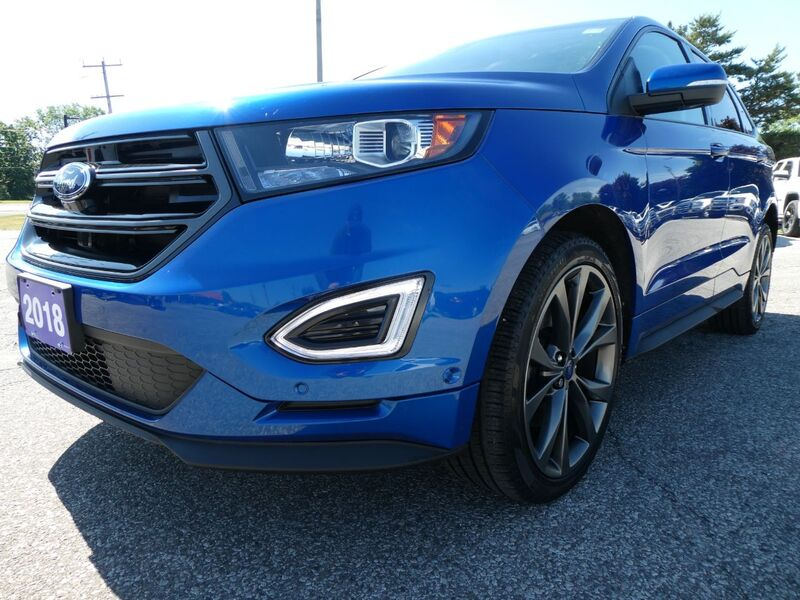 2018 Ford Edge Sport Cooled Seats Panoramic Roof Remote Start Essex ON