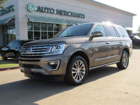 2018 Ford Expedition Limited 4WD, LEATHER, CAPTAINS CHAIRS, PANORAMIC SUNROOF, NAVIGATION, BLIND SPOT, UNDER WARRANTY Plano TX