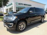 2018 Ford Expedition MAX Limited 4WD LEATHER, 3RD ROW SEATING, BACKUP CAMERA, BLIND SPOT, HTD/CLD FRONT SEATS, BLUETOOTH