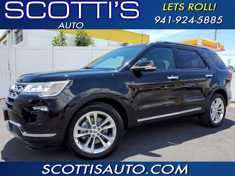 2018 Ford Explorer Limited~ 3RD ROW SEAT~ 1-OWNER~NAVIGATION~ CAMERA~ LOADED~ EXCELLENT CONDITION~ ONLINE FINANCE AVAILABLE! Sarasota FL