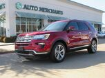 2018 Ford Explorer Limited FWD 3.5L 6CYL AUTOMATIC, LEATHER SEATS, NAVIGATION, BACKUP CAMERA, HEATED AND COOLED SEATS