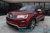 2018 Ford Explorer Platinum / 4WD / Auto Start / Heated & Cooled Leather Seats / Heated Steering Wheel / Sony Speakers / Sunroof / Navigation / Adaptive Cruise / Lane Departure & Blind Spot / 3rd Row / Seats 7 / Tow Pkg / 1-Owner