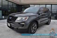 2018_Ford_Explorer_Sport / 4WD / 3.5L Ecoboost V6 / Heated & Cooled Leather Seats / Navigation / Sunroof / Sony Speakers / Auto Start / Adaptive Cruise / Blind Spot & Lane Departure Alert / 3rd Row / Seats 6 / Bluetooth / Back Up Camera_ Anchorage AK