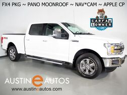 2018_Ford_F-150 4WD SuperCrew LARIAT 3.5L EcoBoost_*LONG BED, FX4 OFF-ROAD PKG, NAVIGATION, BLIND SPOT ALERT, BACKUP-CAMERA, PANORAMA MOONROOF, LEATHER, CLIMATE SEATS, REMOTE START, BLUETOOTH, APPLE CARPLAY_ Round Rock TX