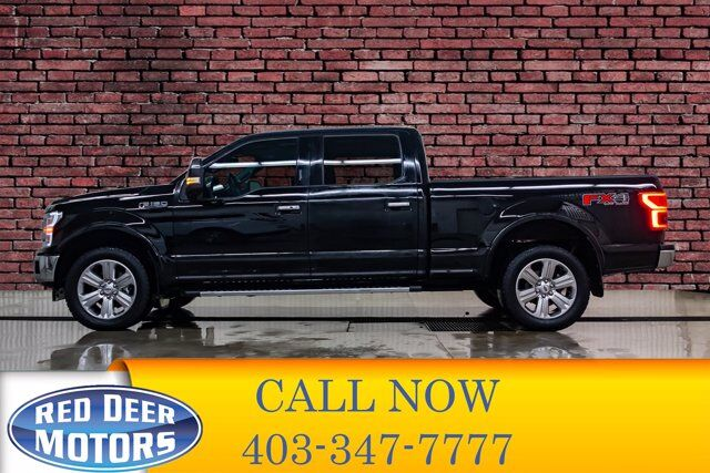 2018 Ford F-150 4x4 Super Crew Lariat FX4 Longbox Leather Roof Nav Red Deer AB