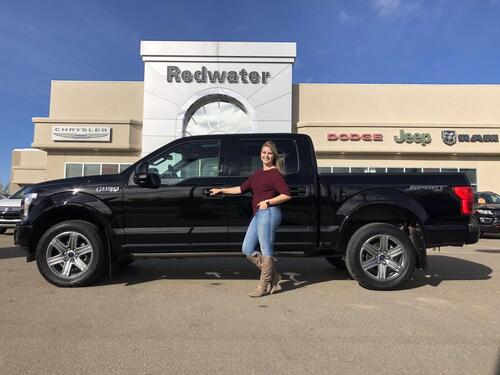 2018_Ford_F-150_Lariat Sport - Panoramic Sunroof - Leather_ Redwater AB