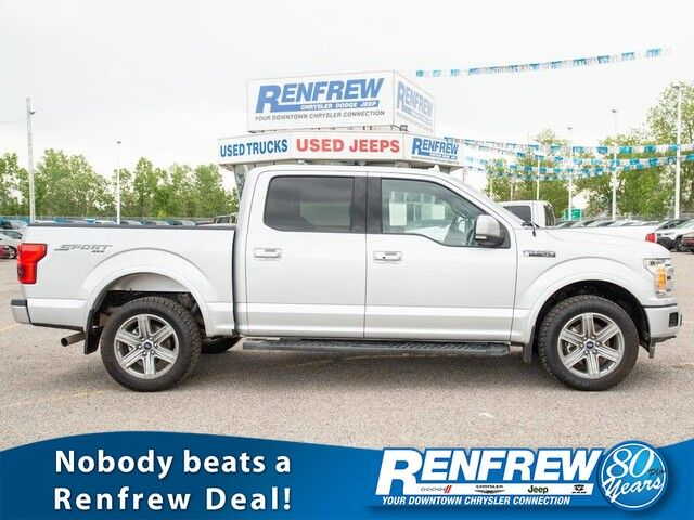 2018 Ford F-150 Lariat Sport 4x4, Nav, Remote Start, Backup Camera, Cooled/Heated Leather Calgary AB