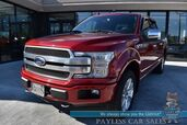 2018 Ford F-150 Platinum / 4X4 / Tech Pkg / 3.5L Ecoboost / Crew Cab / Heated & Cooled Leathers Seats / Navigation / B&O Speakers / Panoramic Sunroof / Auto Start / Blind Spot Alert / Power Running Boards / Tonneau Cover / Tow Pkg