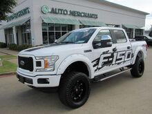2018_Ford_F-150_XL SuperCrew 5.5-ft. Bed 4WD CLOTH SEATS, BACKUP CAM, LIFT/WHEELS/TIRES, RUNNING BOARDS, BLUETOOTH_ Plano TX