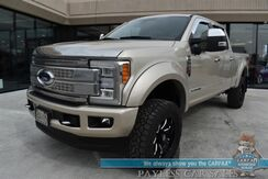 2018_Ford_F-350_Platinum / Crew Cab / FX4 Off-Road Pkg / 4X4 / Turbo Diesel / Auto Start / Heated & Cooled Leather Seats / Sony Speakers / Navigation / 360 Camera / Adaptive Cruise Control / Lane Departure & Blind Spot / Tow Pkg / 1-Owner_ Anchorage AK