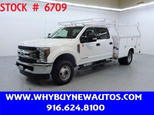2018 Ford F350 Utility ~ 4x4 ~ Diesel ~ XLT Crew Cab ~ Only 43K Miles! Rocklin CA