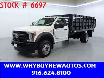 Ford F450 ~ 4x4 ~ Diesel ~ 14ft. Stake Bed ~ Liftgate ~ Only 33K Miles! 2018