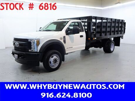 2018 Ford F450 ~ 4x4 ~ Diesel ~ Liftgate ~ 14ft. Stake Bed ~ Only 53K Miles! Rocklin CA